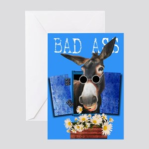 Bad Ass Greeting Card