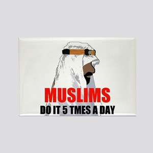 MUSLIMS DO IT Rectangle Magnet