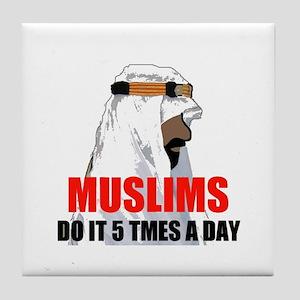 MUSLIMS DO IT Tile Coaster