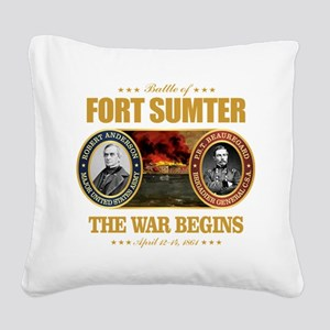 Fort Sumter Square Canvas Pillow