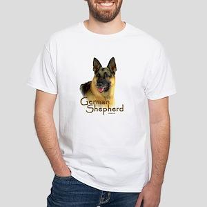 German Shepherd Dog-2 White T-Shirt