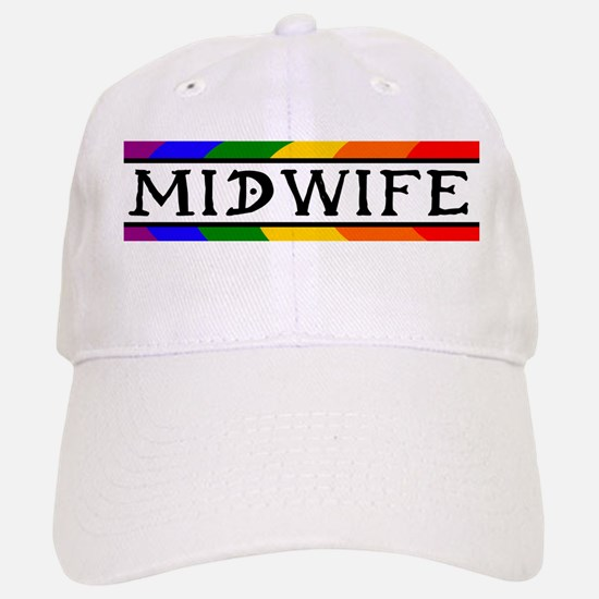 Rainbow Midwife Baseball Baseball Cap