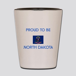 Proud to be North Dakota Shot Glass