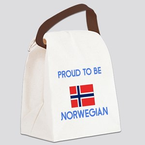 Proud to be Norwegian Canvas Lunch Bag