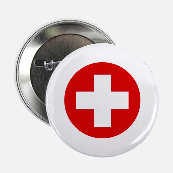 """First Aid Kit 2.25"""" Button"""