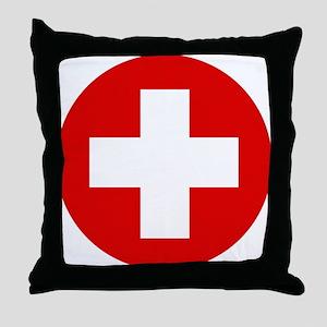 First Aid Kit Throw Pillow