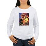 Mandolin Angel/Rottweiler Women's Long Sleeve T-Sh