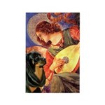 Mandolin Angel/Rottweiler Rectangle Magnet (10 pac