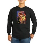 Mandolin Angel/Rottweiler Long Sleeve Dark T-Shirt