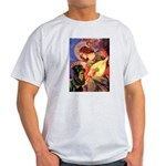 Mandolin Angel/Rottweiler Light T-Shirt