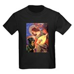 Mandolin Angel/Rottweiler Kids Dark T-Shirt