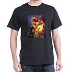 Mandolin Angel/Rottweiler Dark T-Shirt