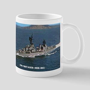 chevalier ddr postcard Stainless Steel Travel Mugs