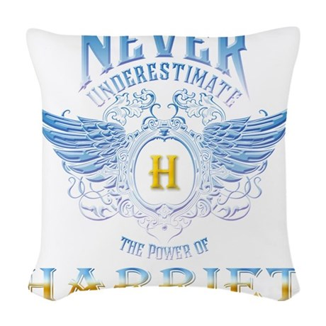 Never Underestimate The Power Woven Throw Pillow