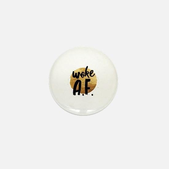 Cute Woke Mini Button