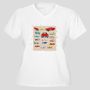 Classic Cars Women's Plus Size V-Neck T-Shirt