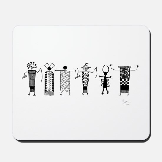 Group of Petroglyph Peoples Mousepad