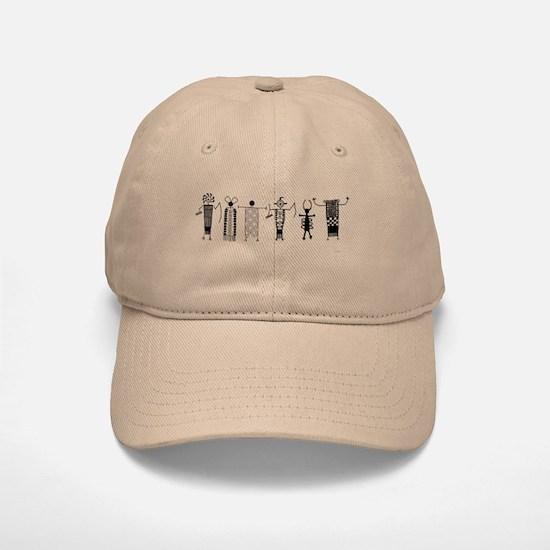 Group of Petroglyph Peoples Baseball Baseball Cap