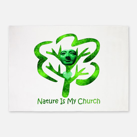 Nature Is My Church 5'x7'Area Rug