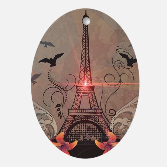 The Eiffel Tower Ornament (Oval)