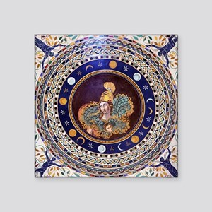 """Athena mosaic in the Sala a Square Sticker 3"""" x 3"""""""