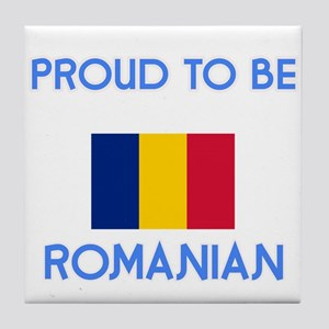 Proud to be Romanian Tile Coaster