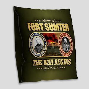 Fort Sumter Burlap Throw Pillow