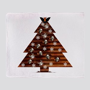 Demented Xmas Tree Throw Blanket