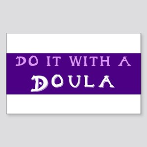 Do It With a Doula Rectangle Sticker