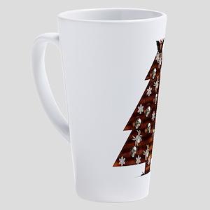 Demented Xmas Tree 17 oz Latte Mug