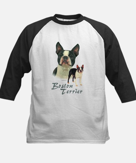 Boston Terrier-2 Kids Baseball Jersey