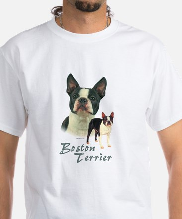 Boston Terrier-2 White T-Shirt