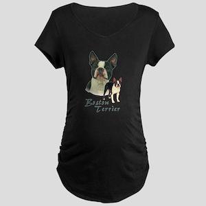 Boston Terrier-2 Maternity Dark T-Shirt