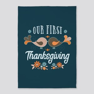 Our First Thanksgiving 5'x7'Area Rug