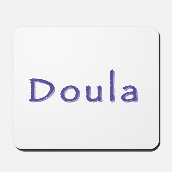 Doula white/purple Mousepad