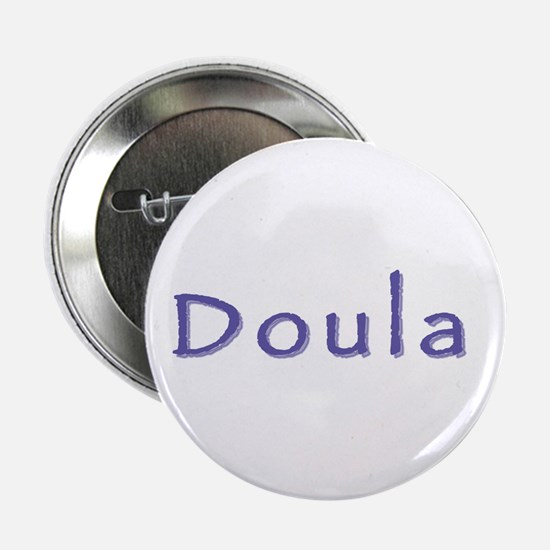 Doula white/purple Button