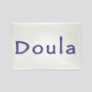 Doula white/purple Rectangle Magnet