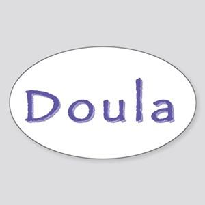 Doula white/purple Oval Sticker