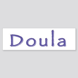 Doula white/purple Bumper Sticker
