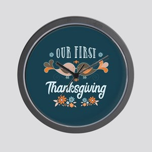 Our First Thanksgiving Wall Clock