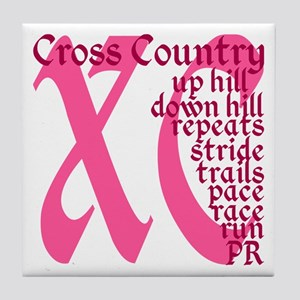 Cross Country XC pink Tile Coaster