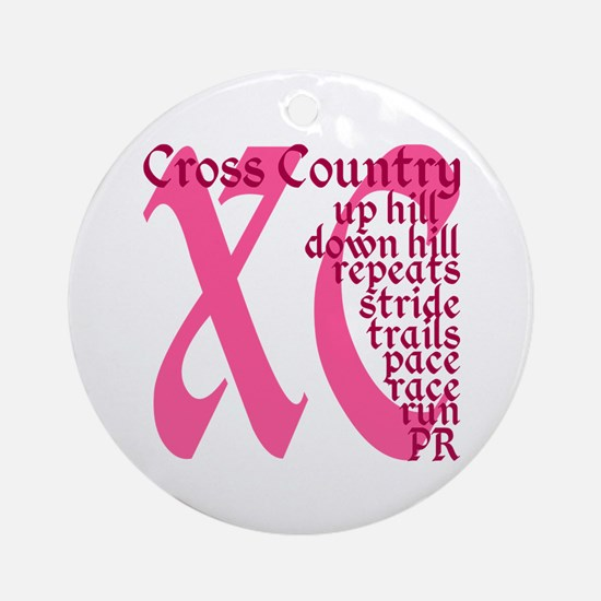 Cross Country XC pink Ornament (Round)