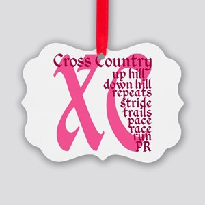 Cross Country XC pink Picture Ornament
