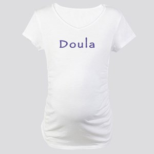 Doula white/purple Maternity T-Shirt