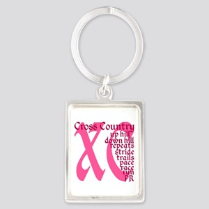 Cross Country XC pink Keychains