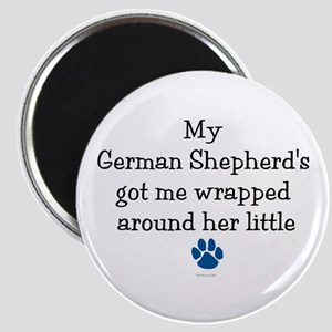 Wrapped Around Her Paw (German Shepherd) Magnet