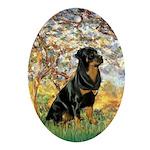 Spring / Rottweiler Ornament (Oval)
