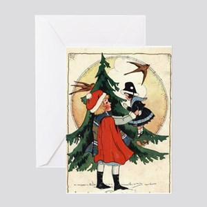 Vintage Christmas morning Greeting Card