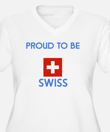 Proud to be Swiss Plus Size T-Shirt