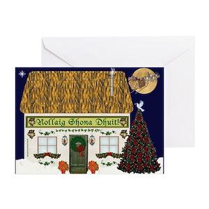 merry christmas gaelic cards pk of 20 - Merry Christmas In Gaelic